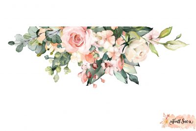 Pink Coral and White Peony Blooms Decal