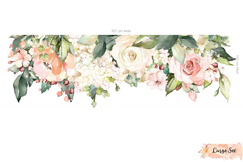 Pink and White Peonies Garden Decal
