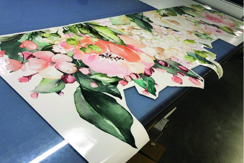 Pink-&-White-rose-Peonies- Garden-Decal-