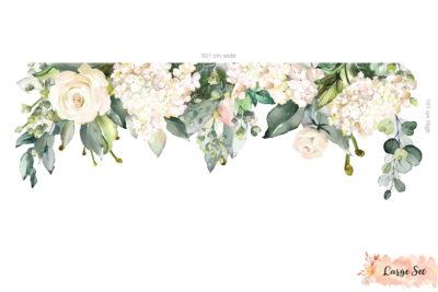 White Rose Garden Decals