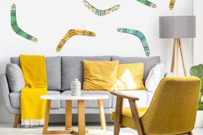 Boomerang Wall Decal Set