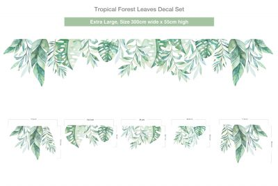 Extra-Large_Tropical-Forest-Leaves-Decal-300cm-1