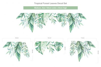 Tropical Forest Leaves Decal Set