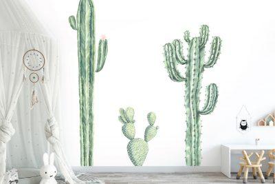 Cacti Wall Decal Set 1