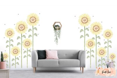 Sunflower-Large-Full-set-wall-decals_03