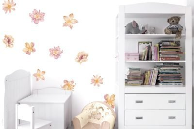 Floating-Peach-Flowers-Wall-Decals-01