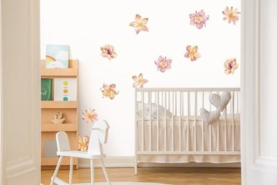 Floating-Peach-Flowers-Wall-Decals-02