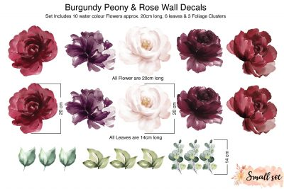 Burgundy-Peony-&-Rose-Wall-Decals_sizes