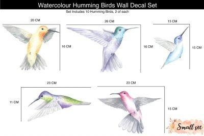 09-Mini_Watercolour-Hummingbirds-Decal-Set_Sizes