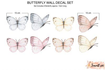 Small Butterfly wall Decals_Sizes