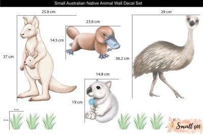 Small_Australian-Native-Animal-Wall-decal-Set_Sizes