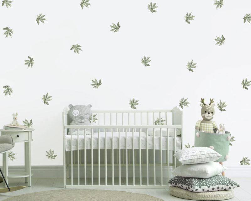 Botanical-Green-Leaf-Wall-Decals-size_01
